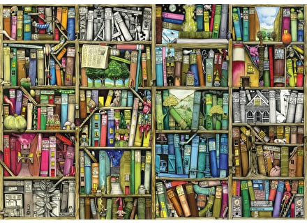 Bookshelf jigsaw