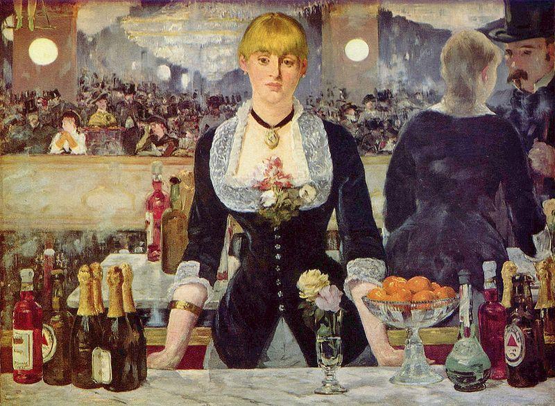 Manet A Bar at the Folies Bergeres