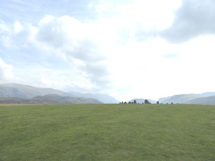 Approaching Castlerigg Stone Circle (1)  P1010056