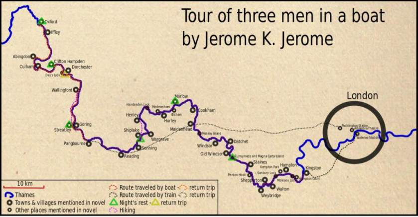 three men map