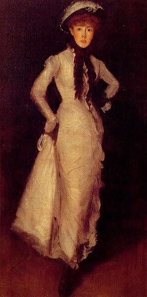 Whistler Arrangement in White and Black Maud Franklin 1876