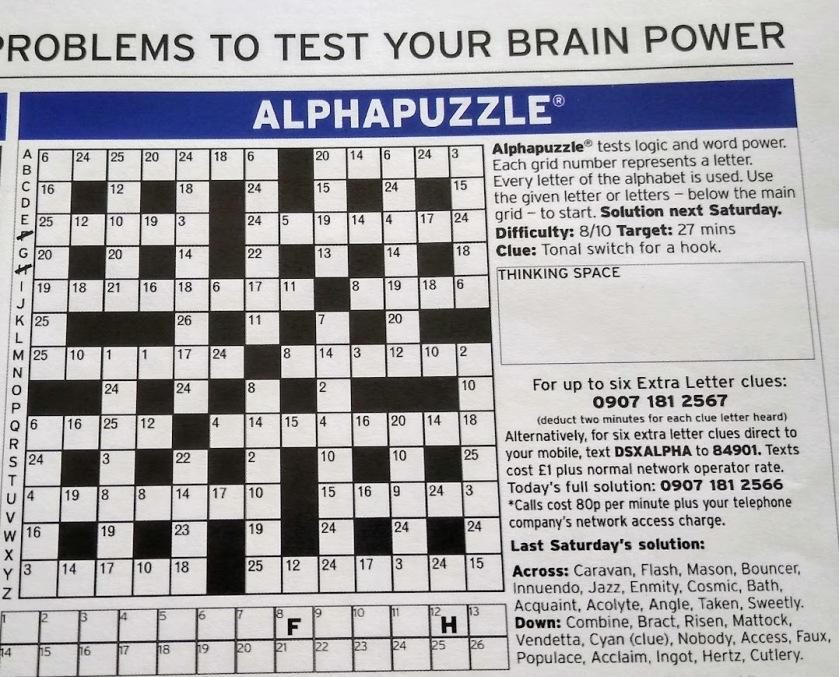 AlphaPuzzle April 2020